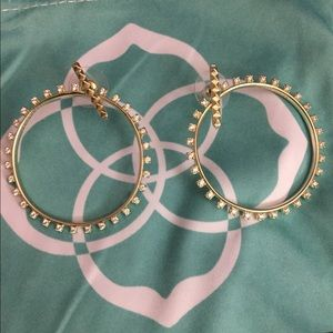 Kendra Scott Charlie Grace hoops in gold
